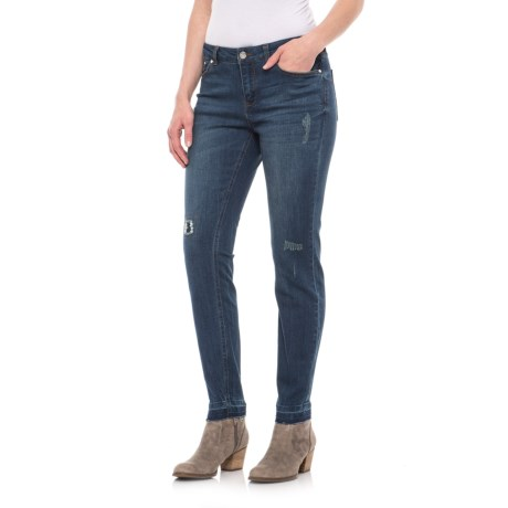 For the Republic Destroyed Denim Jeans (For Women) in Destroyed Medium Wash