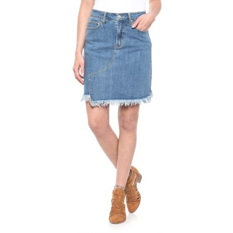 For the Republic Five-Pocket Asymmetrical Hem Skirt (For Women) in Blue Wash