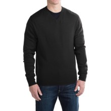 For the Republic Jersey V-Neck Sweater - Merino Wool (For Men) in Black - Closeouts