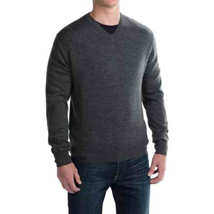For the Republic Jersey V-Neck Sweater - Merino Wool (For Men) in Chalkboard Heather - Closeouts