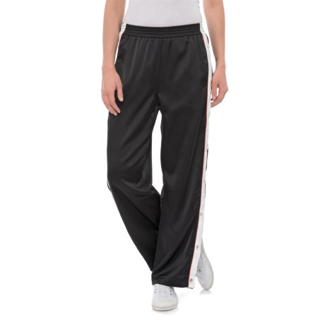 For the Republic Striped Track Pants (For Women) in Black/Red/White