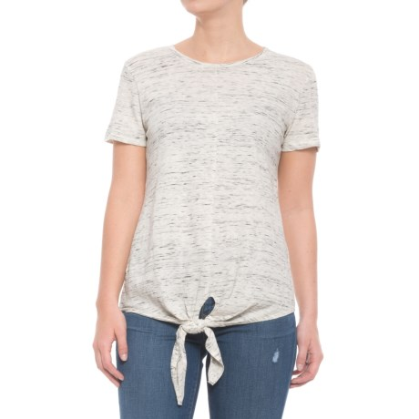 For the Republic Tie Waist T-Shirt - Short Sleeve (For Women) in Natural Heather