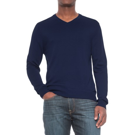 For the Republic V-Neck Sweater (For Men) in Classic Blue