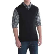 For The Republic V-Neck Sweater Vest - Merino Wool (For Men) in Black - Closeouts