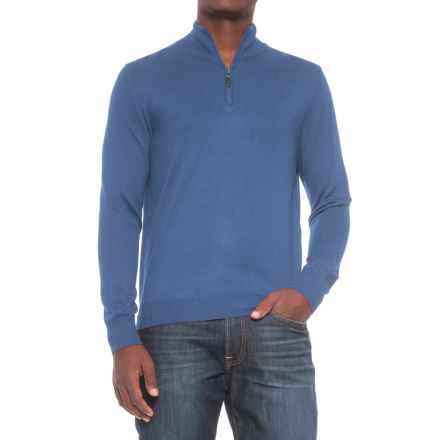For the Republic Zip Neck Sweater (For Men) in Heather Jean - Closeouts