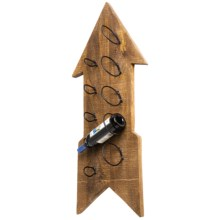 "Foreside Wooden Arrow Wine Rack - 42x21"" in See Photo - Closeouts"