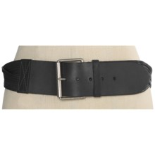 Forest and Culver Braided Belt - Leather (For Women) in Black - Closeouts
