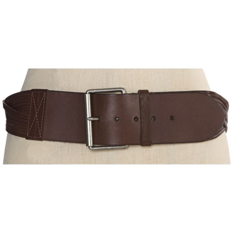Forest and Culver Braided Belt - Leather (For Women) in Brown