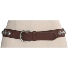 Forest and Culver Concho Belt - Leather (For Women) in Brown - Closeouts