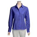 Forest & Hue Stretch Poplin Shirt - Reg and Plus Size, Long Sleeve (For Women)