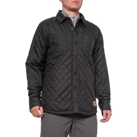 Fort Point Flannel Jacket - Insulated, Reversible (For Men) - TNF BLACK/TNF BLACK (L )