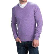 Forte Cashmere Basic V-Neck Sweater (For Men) in Elderberry - Closeouts