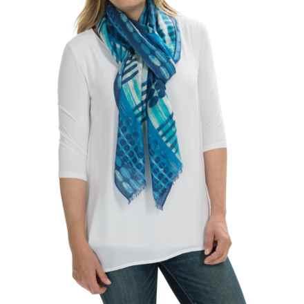 Forte Cashmere Batik-Print Scarf - Silk-Cashmere (For Women) in Twilight Multi - Closeouts