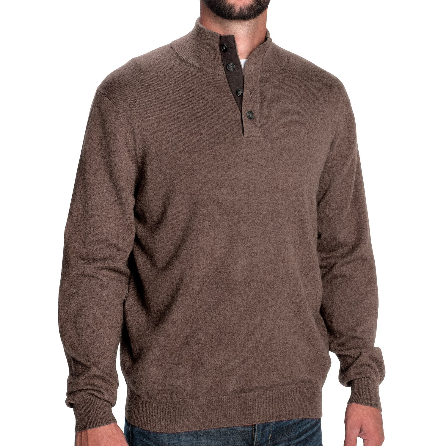 d2e22839236b1d Man Mock Neck Sweater - Sweater Grey