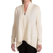 Forte Cashmere Cable Back Cardigan Sweater - Wool-Cashmere (For Women) in Ivory - Closeouts