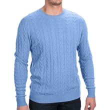 Forte Cashmere Cable Sweater (For Men) in Skye - Closeouts