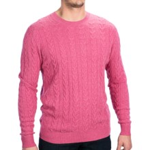 Forte Cashmere Cable Sweater (For Men) in Wild Heather - Closeouts