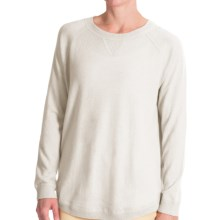 Forte Cashmere Cashmere Oversized Sweatshirt (For Women) in Snowdrop - Closeouts