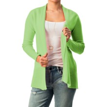 Forte Cashmere Circular Rib Cardigan Sweater (For Women) in Palm - Closeouts