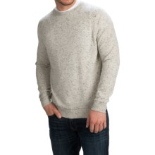 Forte Cashmere Crew Neck Sweater - Cashmere (For Men) in Frostnep/Charcoal - Closeouts