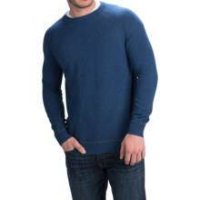 Forte Cashmere Crew Neck Sweater - Cashmere (For Men) in Indigo/Zinc - Closeouts