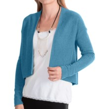 Forte Cashmere Cropped Cardigan Sweater (For Women) in Saranac - Closeouts