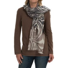 Forte Cashmere Feather Paisley Scarf - Silk-Cashmere (For Women) in Doeskin - Closeouts