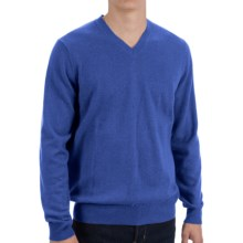 Forte Cashmere Fitted Sweater - V-Neck (For Men) in Delft - Closeouts