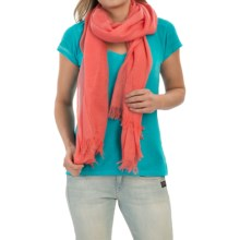 Forte Cashmere Luxe Pointelle Scarf (For Women) in Apricot - Closeouts