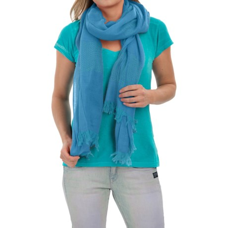 Forte Cashmere Luxe Pointelle Scarf (For Women)