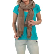 Forte Cashmere Luxe Pointelle Scarf (For Women) in Twine - Closeouts