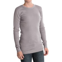 Forte Cashmere Merino Wool-Silk Sweater - Crew Neck (For Women) in Dove - Closeouts