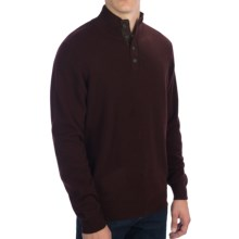 Forte Cashmere Mock Neck Sweater (For Men) in Boysenberry/Charcoal - Closeouts