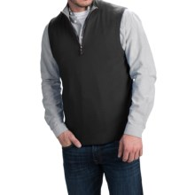 Forte Cashmere Mock Zip Neck Sweater Vest - Cashmere (For Men) in Black/Charcoal - Closeouts
