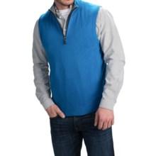 Forte Cashmere Mock Zip Neck Sweater Vest - Cashmere (For Men) in Glacier/Zinc - Closeouts