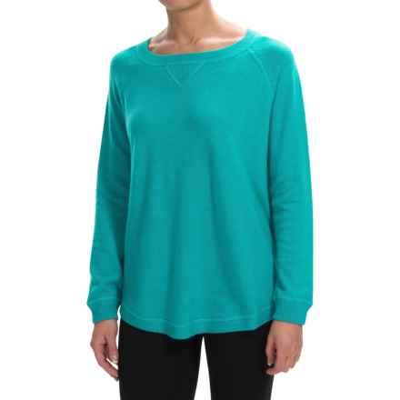Forte Cashmere Oversized Cashmere Sweater (For Women) in Jade - Closeouts