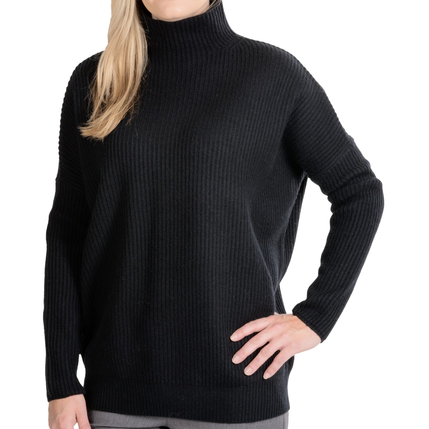 Black Cashmere Turtle Neck Sweater 11