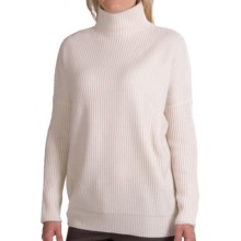 Forte Cashmere Oversized Turtleneck Sweater - Wool-Cashmere (For Women) in Ivory - Closeouts