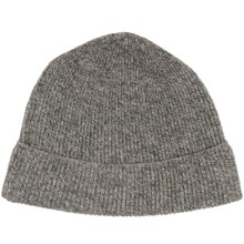 Forte Cashmere Ribbed Hat - Cashmere (For Men) in Charcoal/Oat Marl - Closeouts