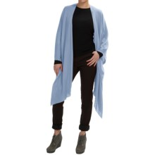 Forte Cashmere Ruana Wrap - Merino Wool-Silk (For Women) in Celestial - Closeouts
