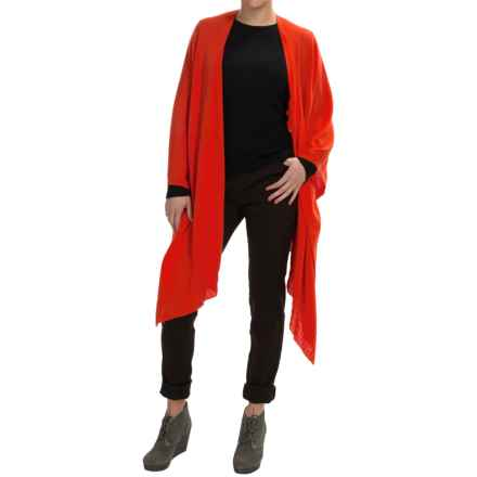 Forte Cashmere Ruana Wrap - Merino Wool-Silk (For Women) in Chili - Closeouts