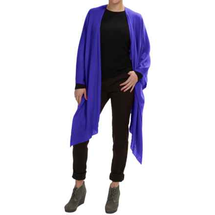Forte Cashmere Ruana Wrap - Merino Wool-Silk (For Women) in Purple - Closeouts