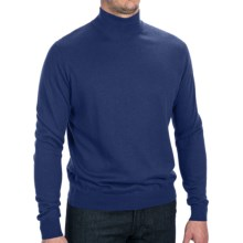 Forte Cashmere Silk Blend Sweater - Mock Neck (For Men) in Ink - Closeouts