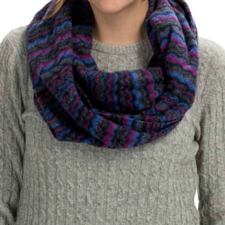 Forte Cashmere Striped Infinity Scarf (For Women) in Midnight Multi - Closeouts