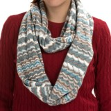 Forte Cashmere Striped Infinity Scarf (For Women)