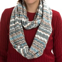 Forte Cashmere Striped Infinity Scarf (For Women) in Zinc Multi - Closeouts