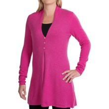 Forte Cashmere Swing Cardigan Sweater - 7gg (For Women) in Cerise - Closeouts