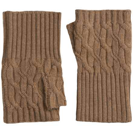 Forte Cashmere Texting Gloves - Fingerless (For Women) in Caramel - Closeouts