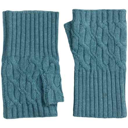 Forte Cashmere Texting Gloves - Fingerless (For Women) in Skye - Closeouts