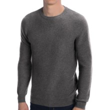 Forte Cashmere Texture Stitch Sweater (For Men) in Dark Charcoal/Light Grey - Closeouts